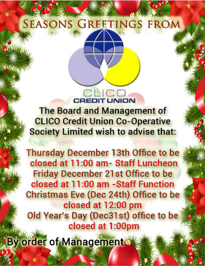 Closing Christmas Hours 2012