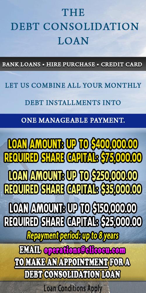 Debt Consolidation Loan - Clico Credit Union